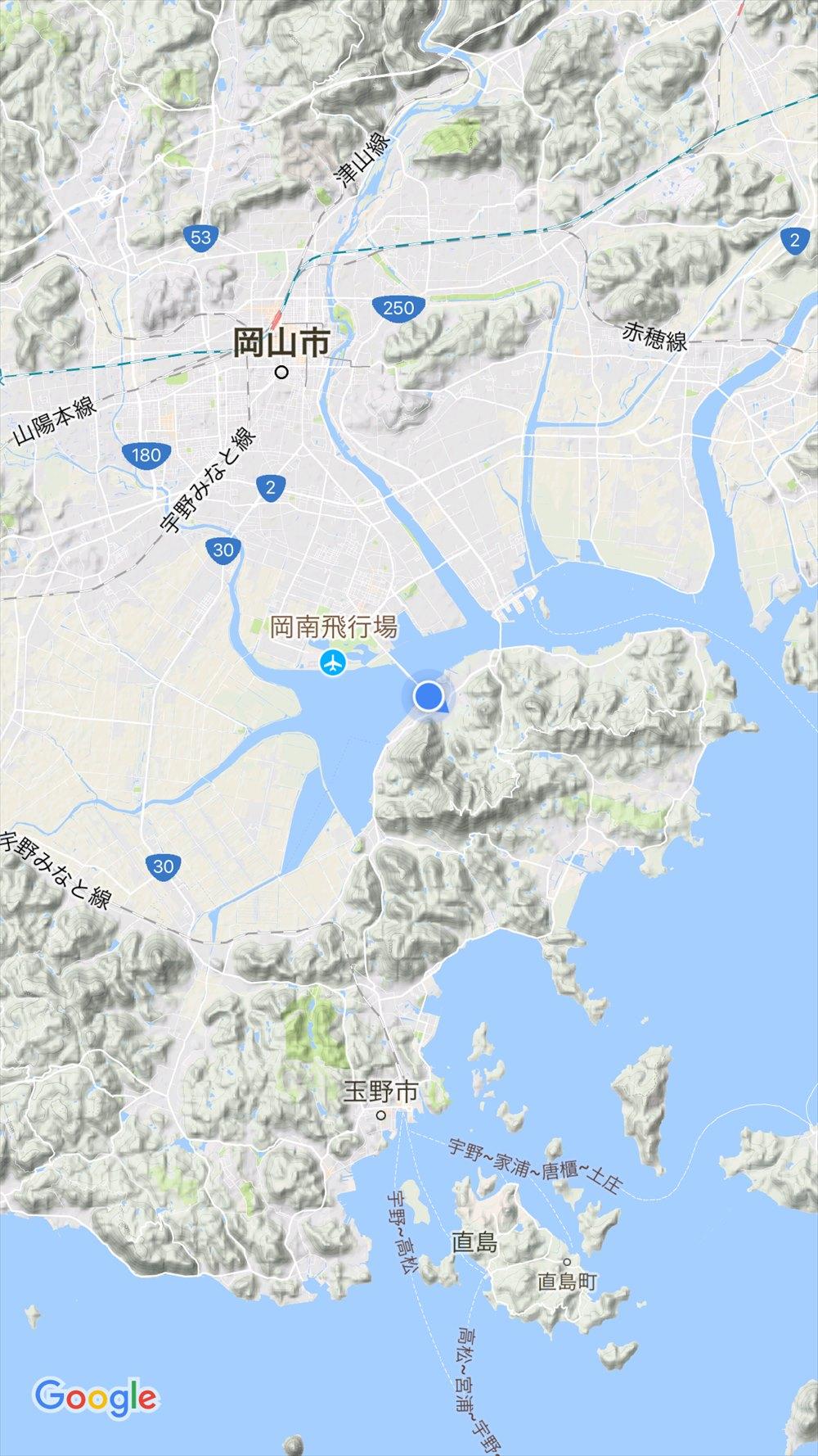 岡山の入江の形