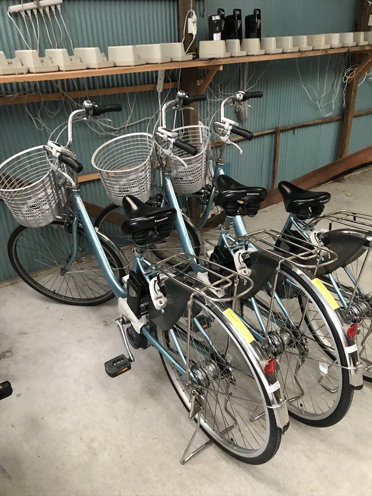 おうぎやレンタサイクルの電動自転車1