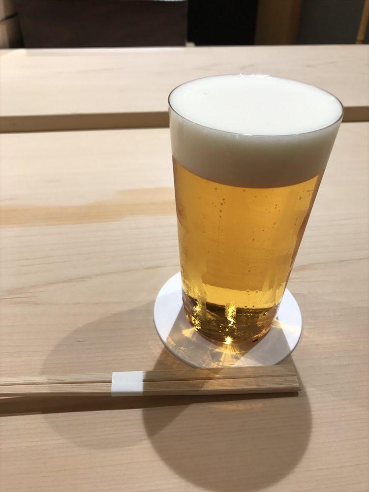 寿司 中川のビール