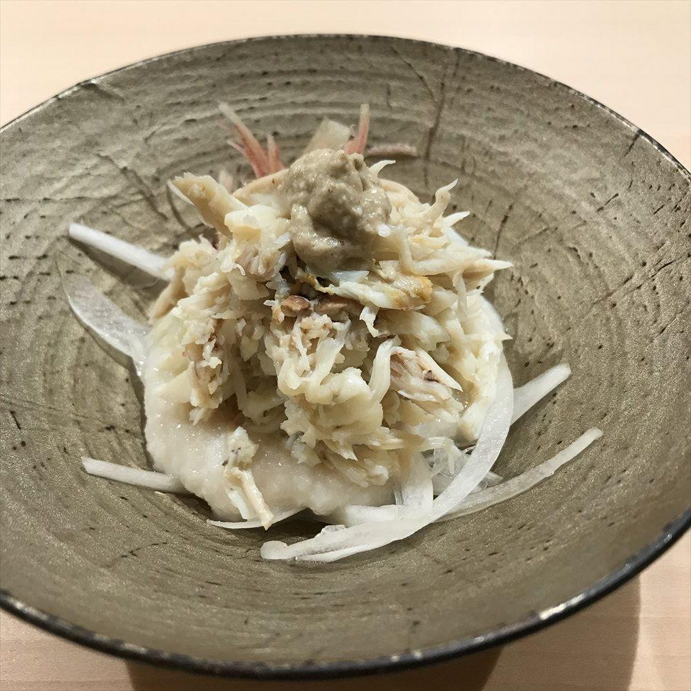 寿司 中川のワタリガニ