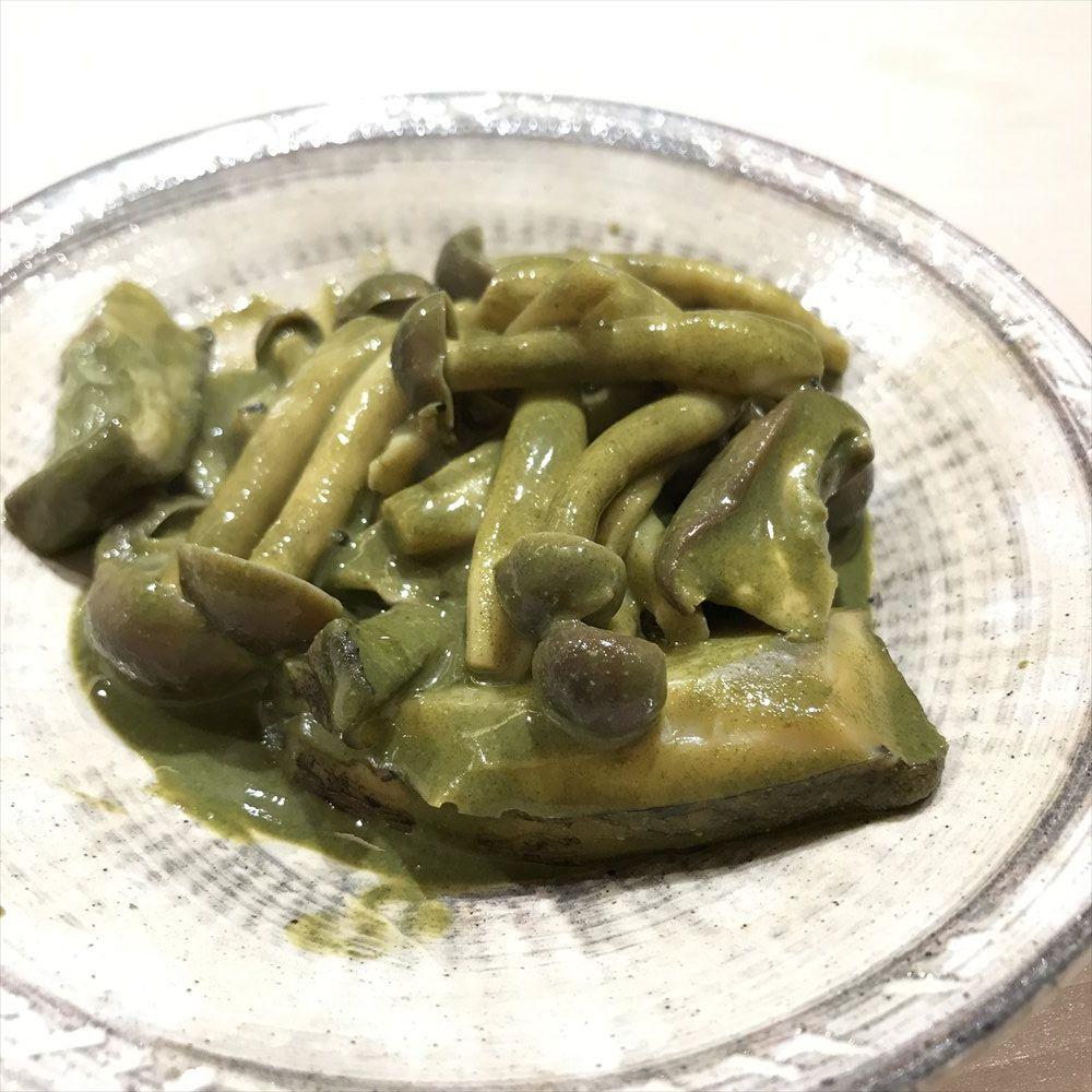 寿司 中川のアワビとしめじの肝ソース