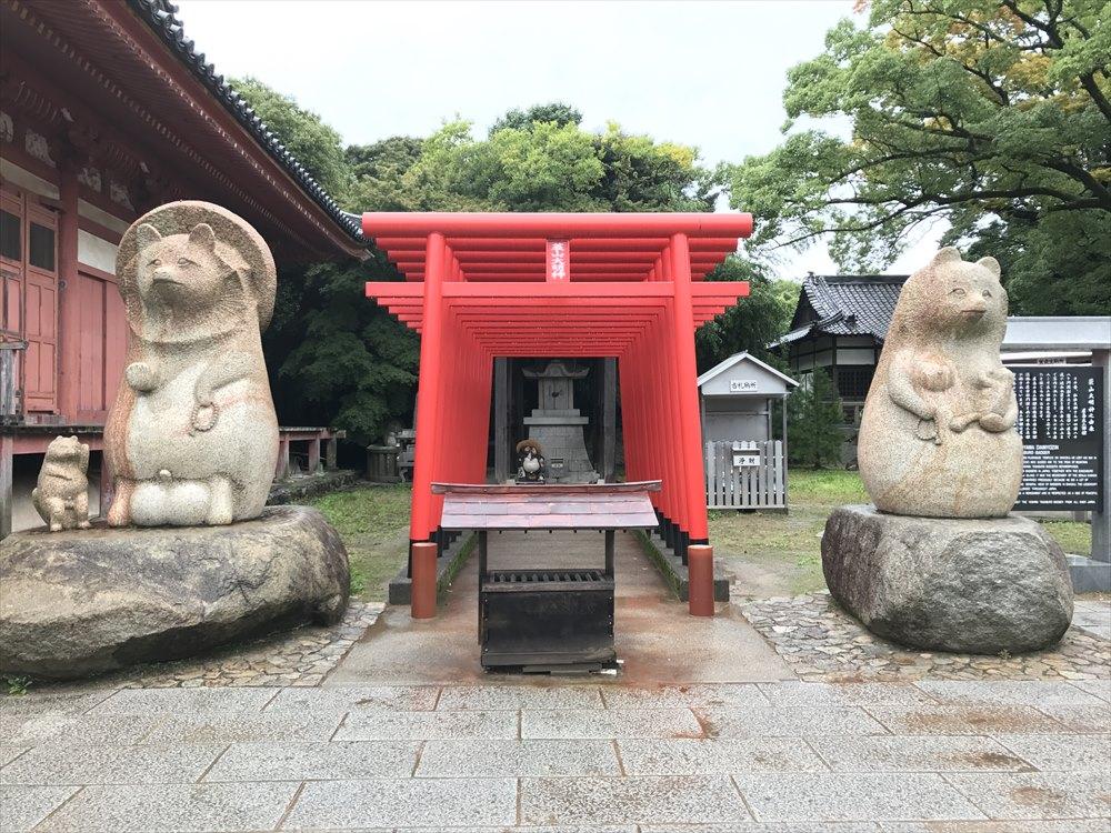 屋島寺の蓑山大明神