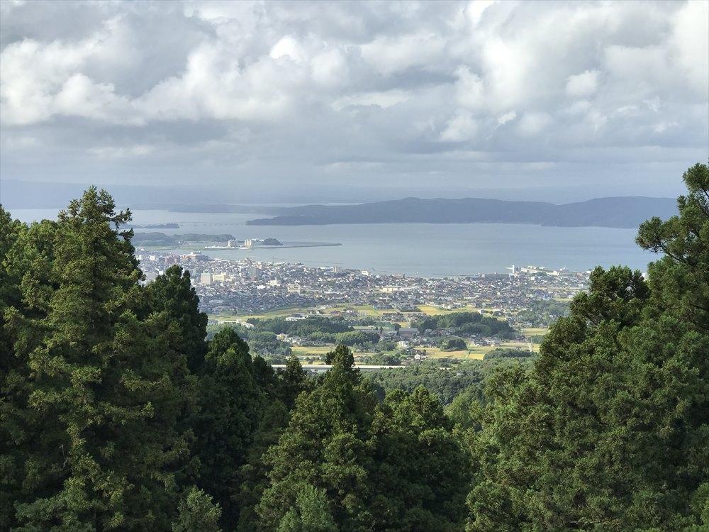 七尾城の本丸跡からの眺め2