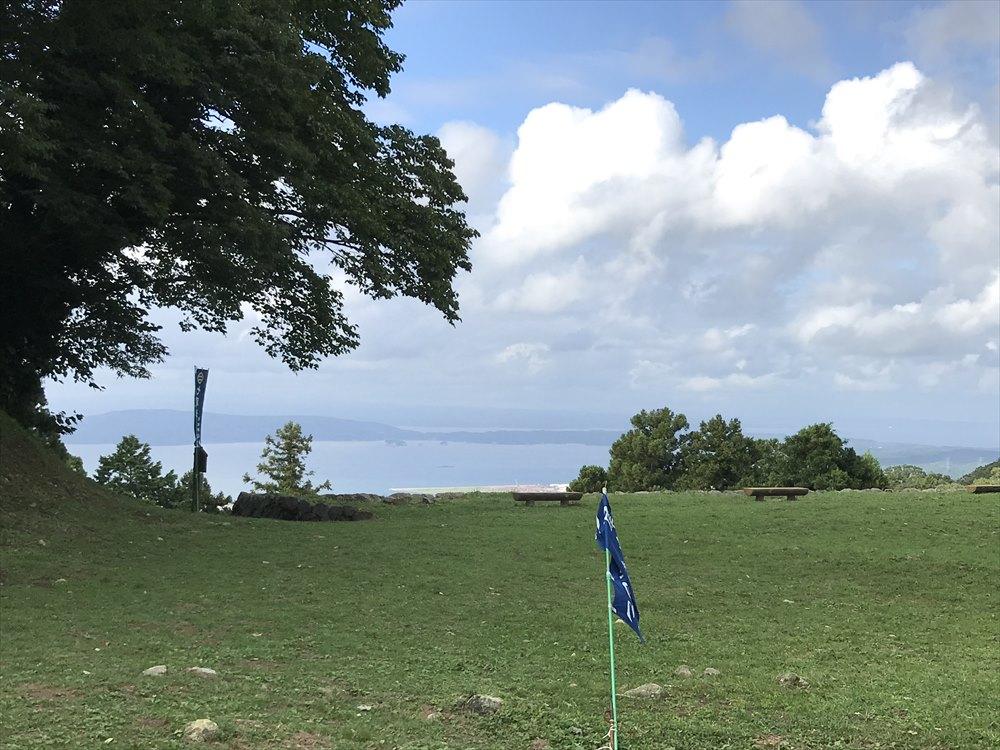 七尾城の本丸跡からの眺め1