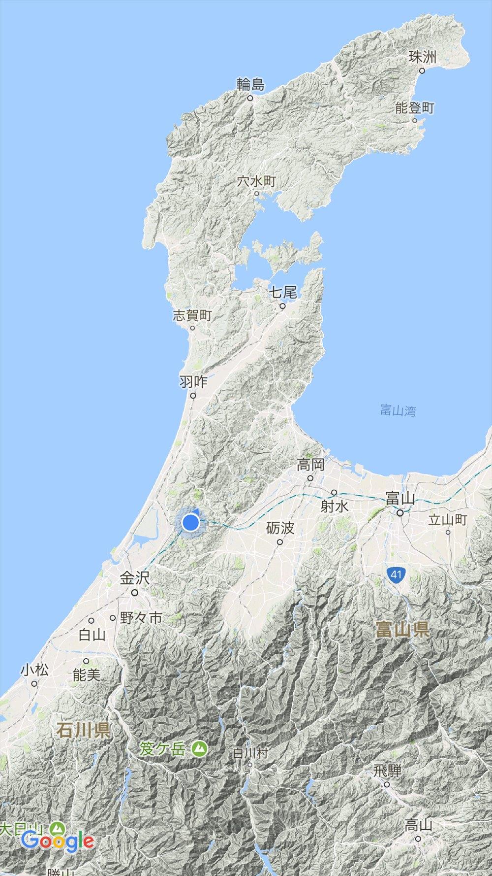 加賀から越中へ