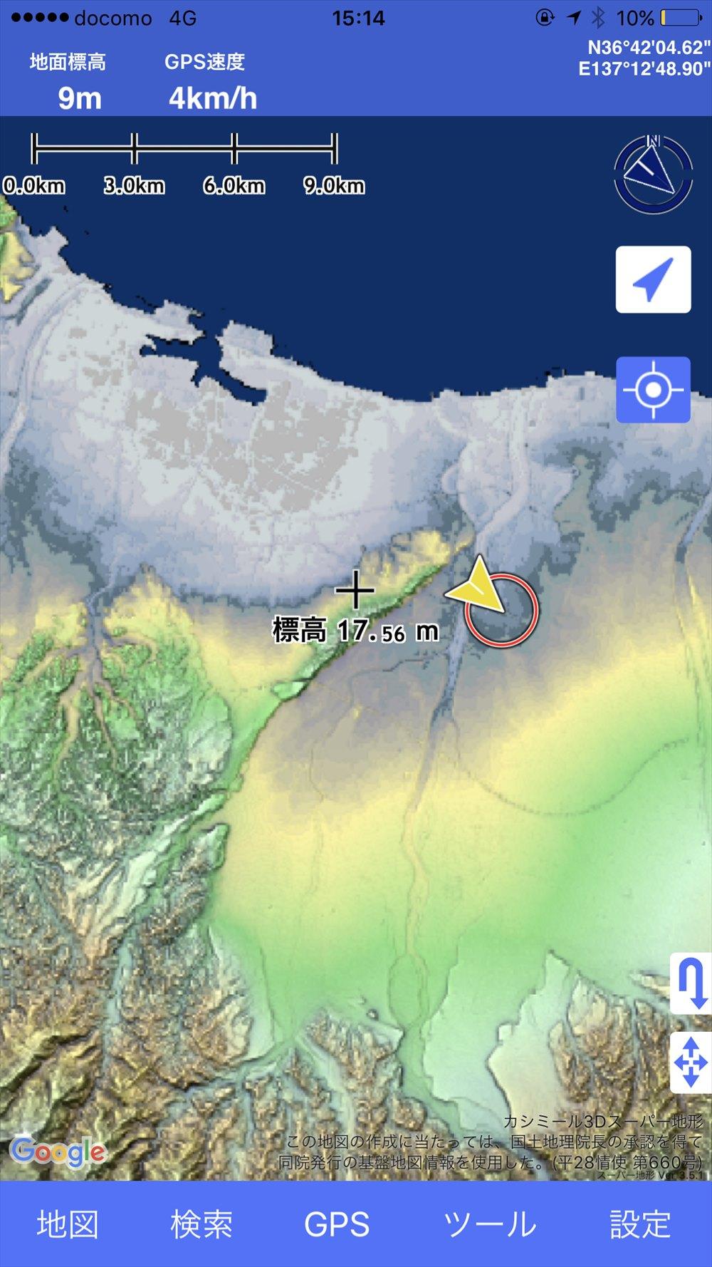 呉羽丘陵の位置