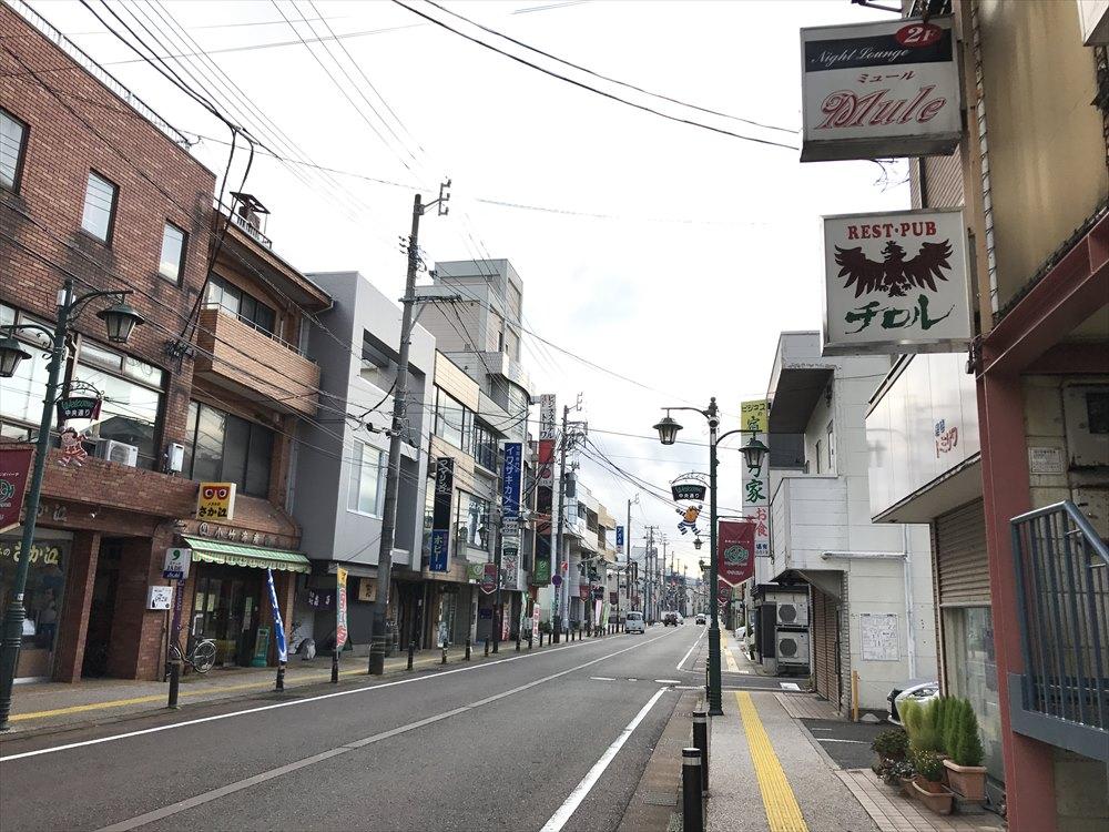 糸魚川の飲み屋街