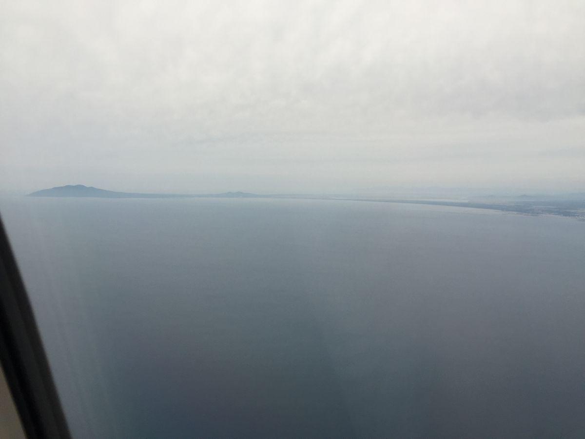 NH403から見た男鹿半島