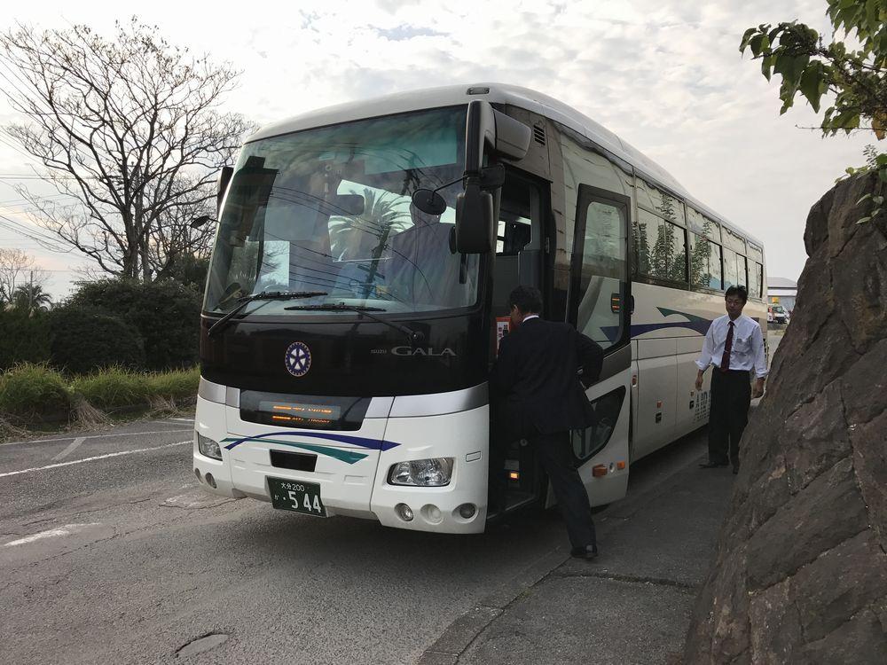 大分空港行きのシャトルバス
