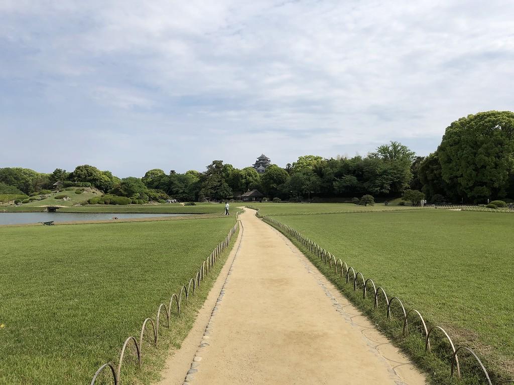 岡山後楽園と岡山城1