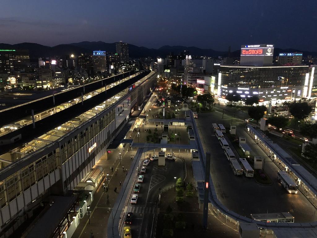 ホテルグランヴィア岡山から岡山駅3