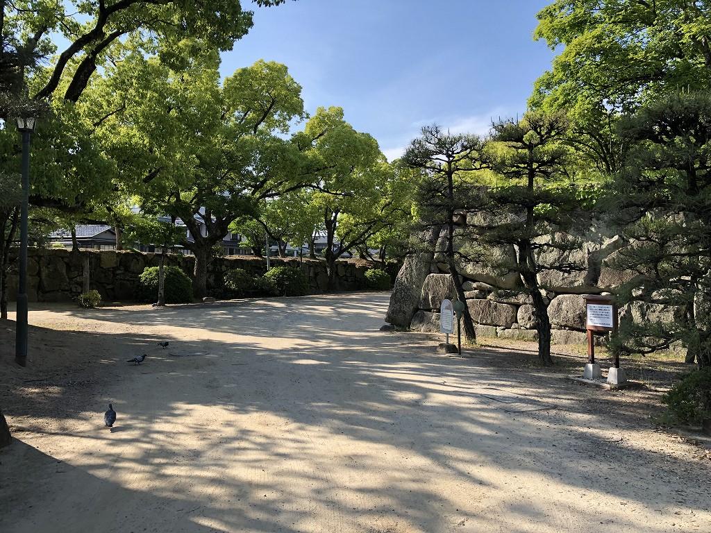 岡山城のクランク