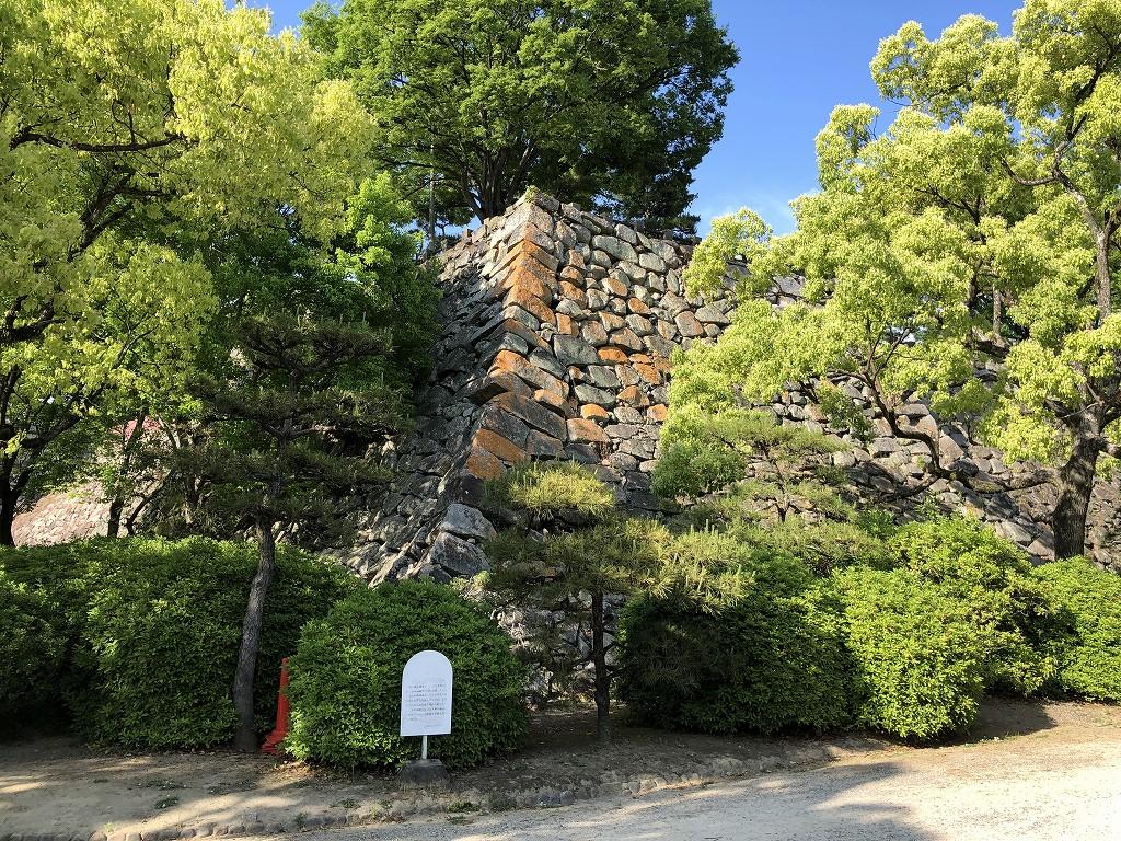 岡山城の大石