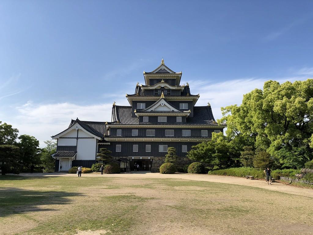 岡山城の天守閣1