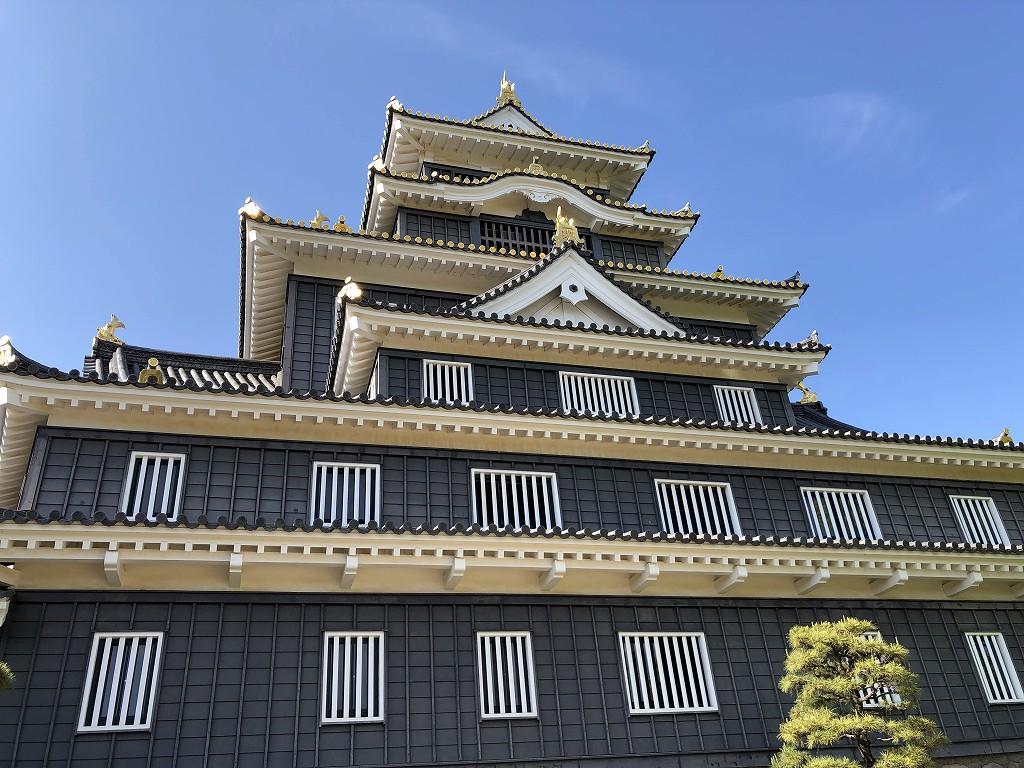 岡山城の天守閣3
