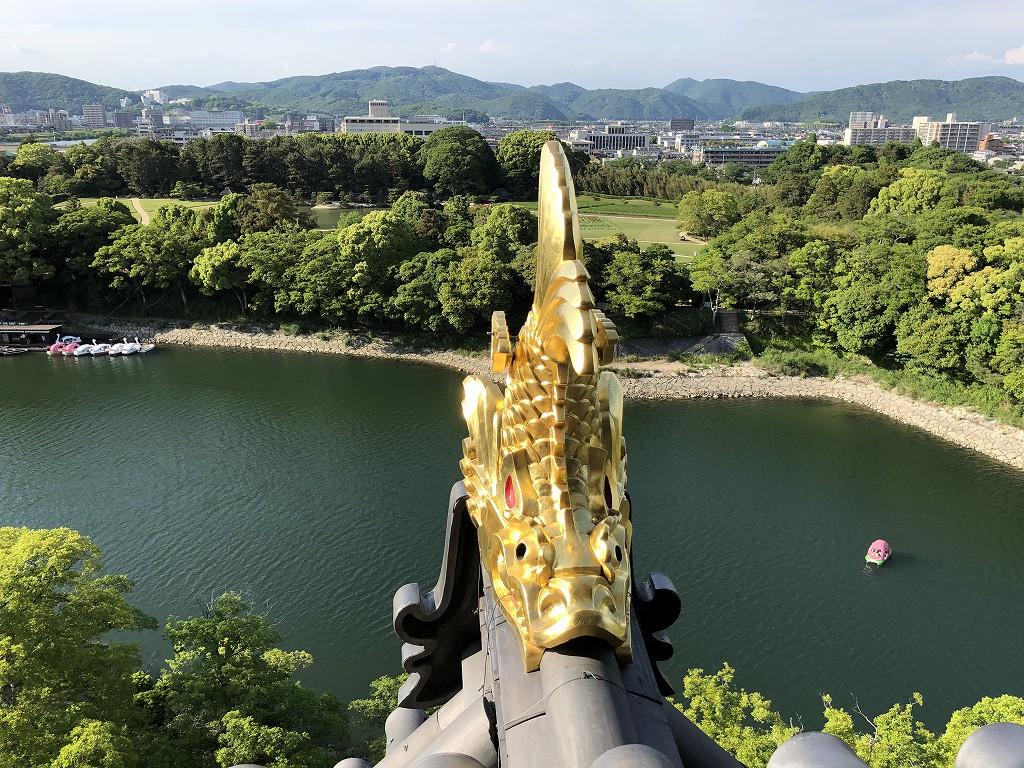 岡山城の天守閣から後楽園3