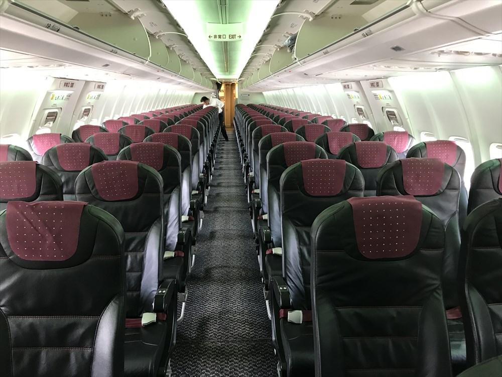 JAL255便の普通席