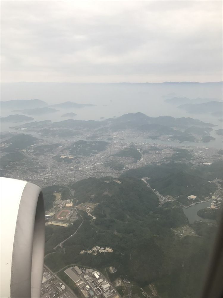 JAL255便から尾道