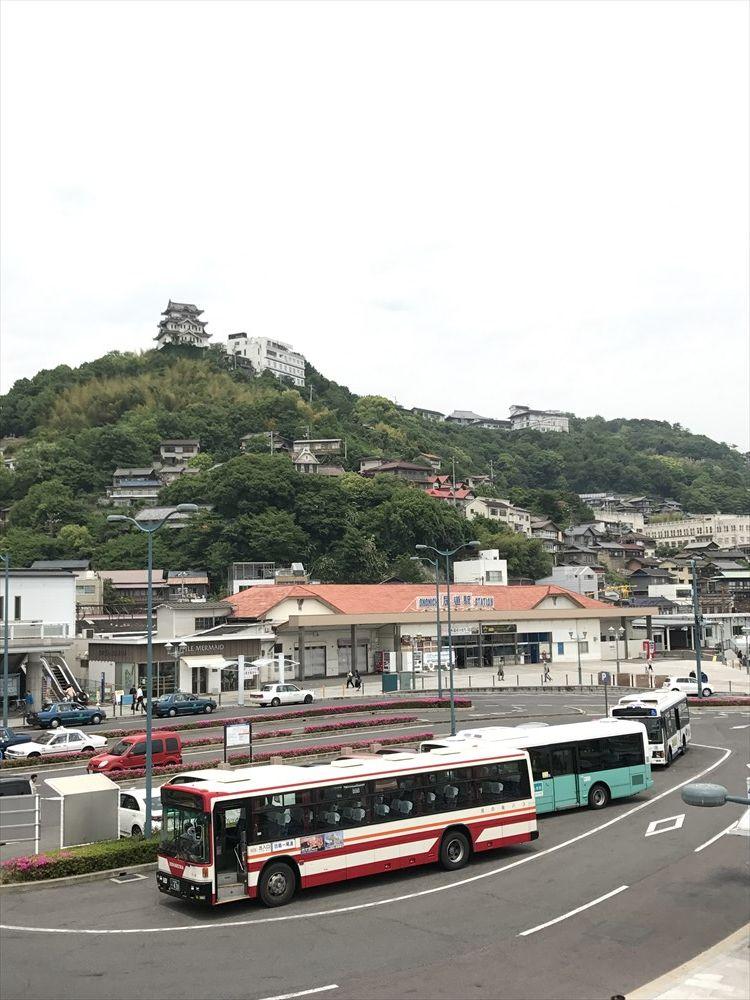尾道駅前の眺め
