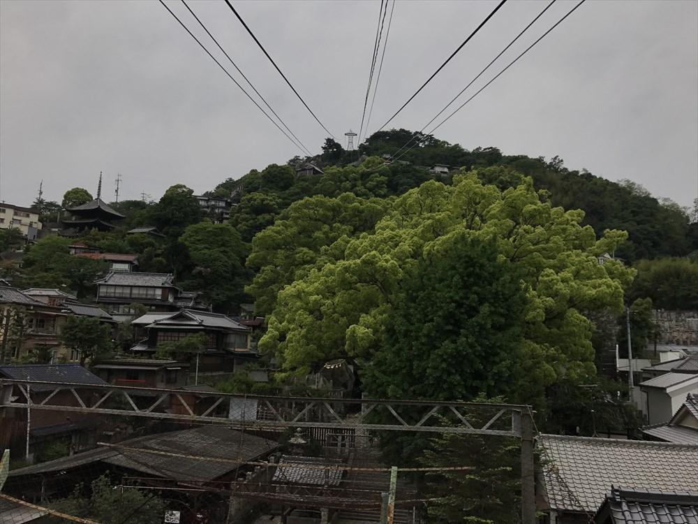 千光寺山ロープウェイの乗り場からの眺め