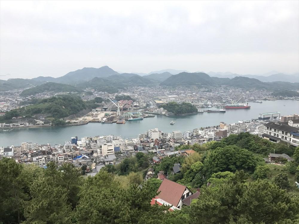 千光寺公園展望台から尾道水道