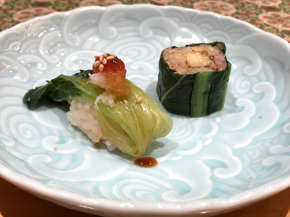 鮨処ひと志の広島菜巻