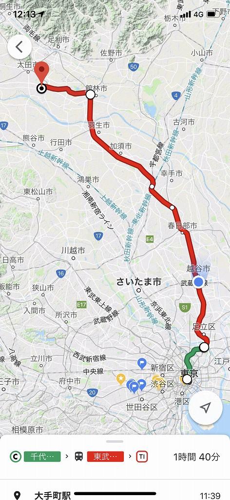 西小泉駅までのルート