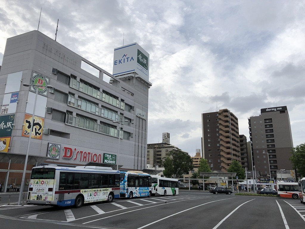 前橋駅前の風景