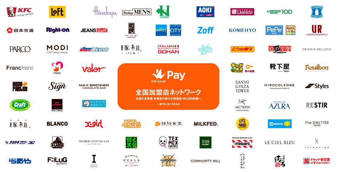 Origami Payが使えるお店