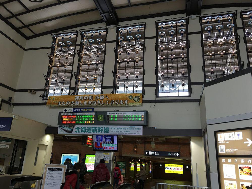 小樽駅の改札からホームの眺め