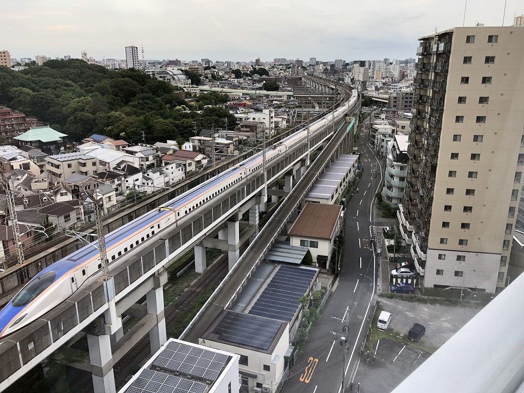 「東横イン 京浜東北線王子駅北口」から新幹線ビュー1