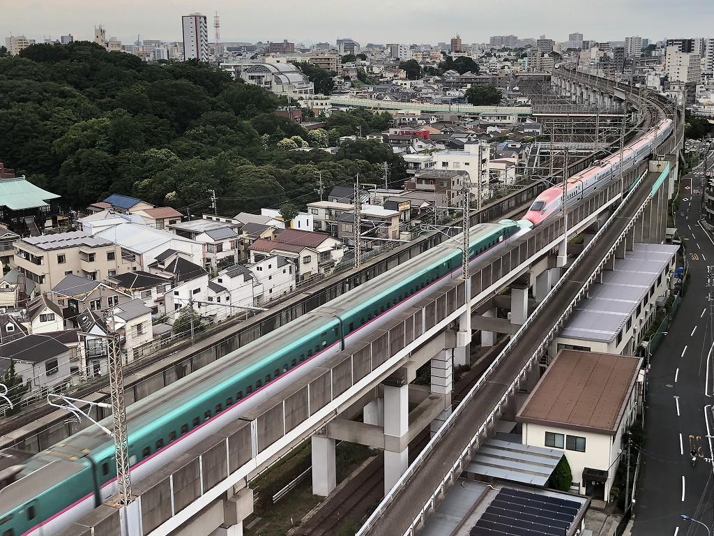 「東横イン 京浜東北線王子駅北口」から新幹線ビュー2