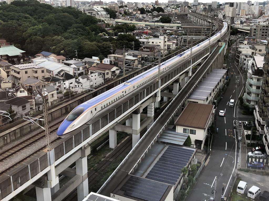 「東横イン 京浜東北線王子駅北口」から新幹線ビュー3