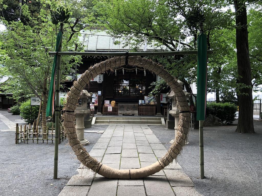 七社神社の茅の輪くぐり