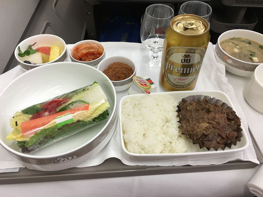 アシアナ航空ビジネスクラスのザ・プレミアOB