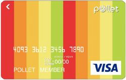 Pollet Visa Prepaid券面デザイン