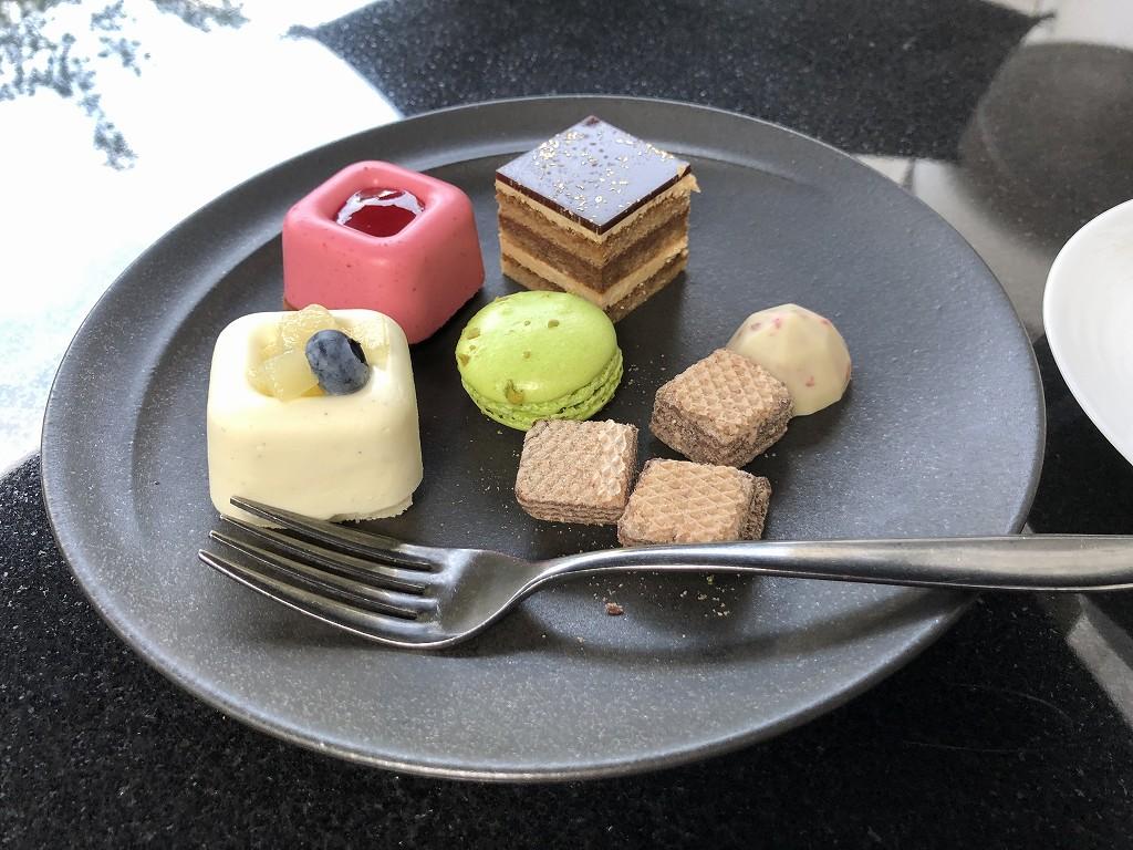 グランドプリンスホテル新高輪の「クラブラウンジ」のティータイムのお菓子