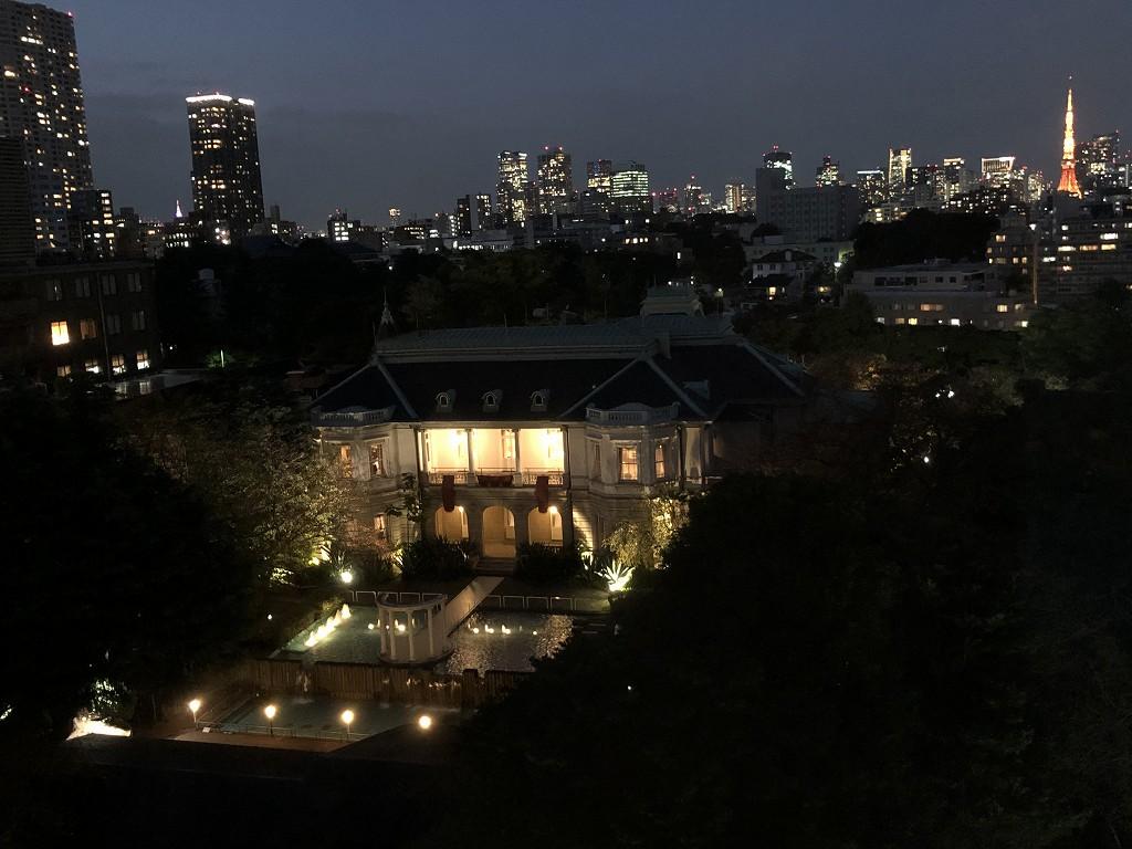 ザ・プリンスさくらタワーから東京タワーの夜景