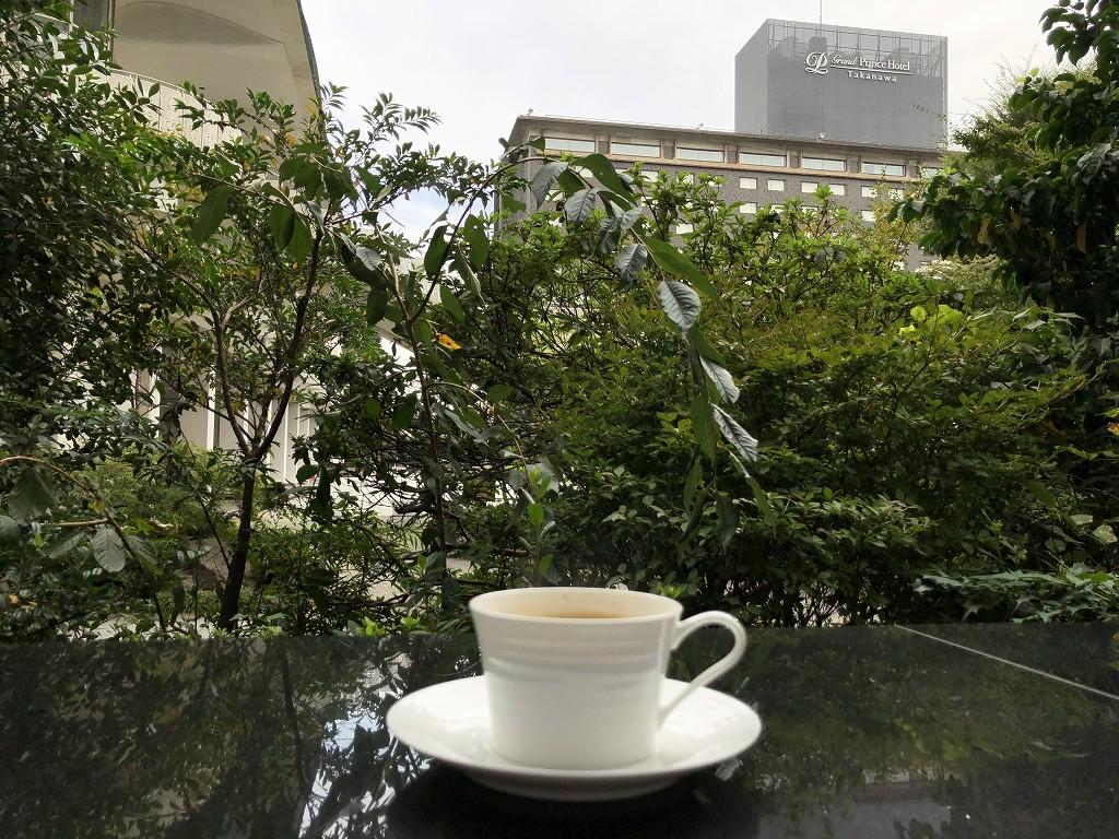 グランドプリンスホテル新高輪の「クラブラウンジ」でコーヒー