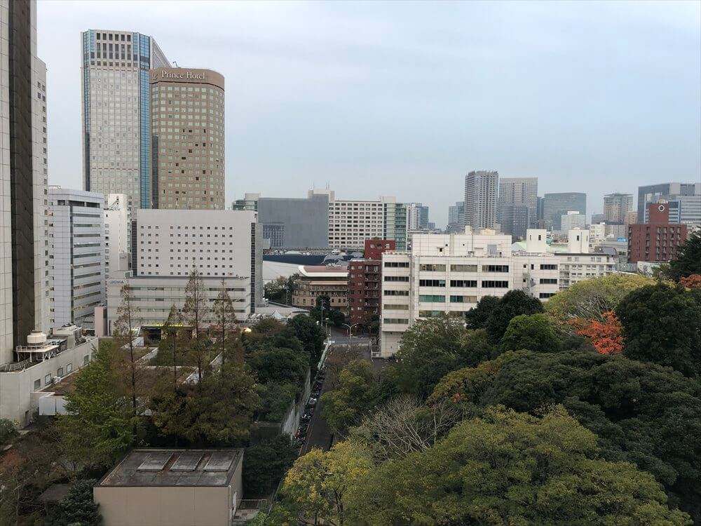 ザ・プリンス さくらタワー東京のサウスサイド デラックスツインからの眺め1