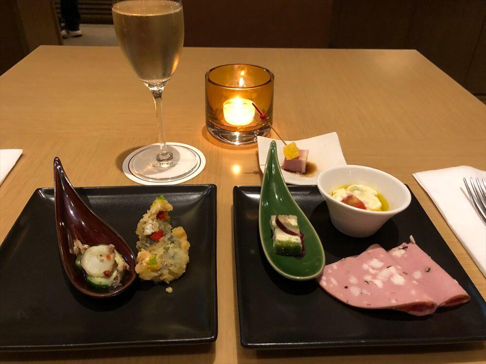 ザ・プリンス さくらタワー東京のエグゼクティブラウンジの晩飯1