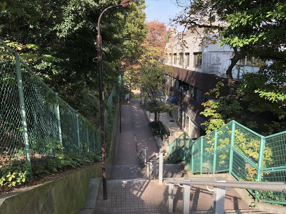 グランドプリンスホテル高輪から高輪公園への階段