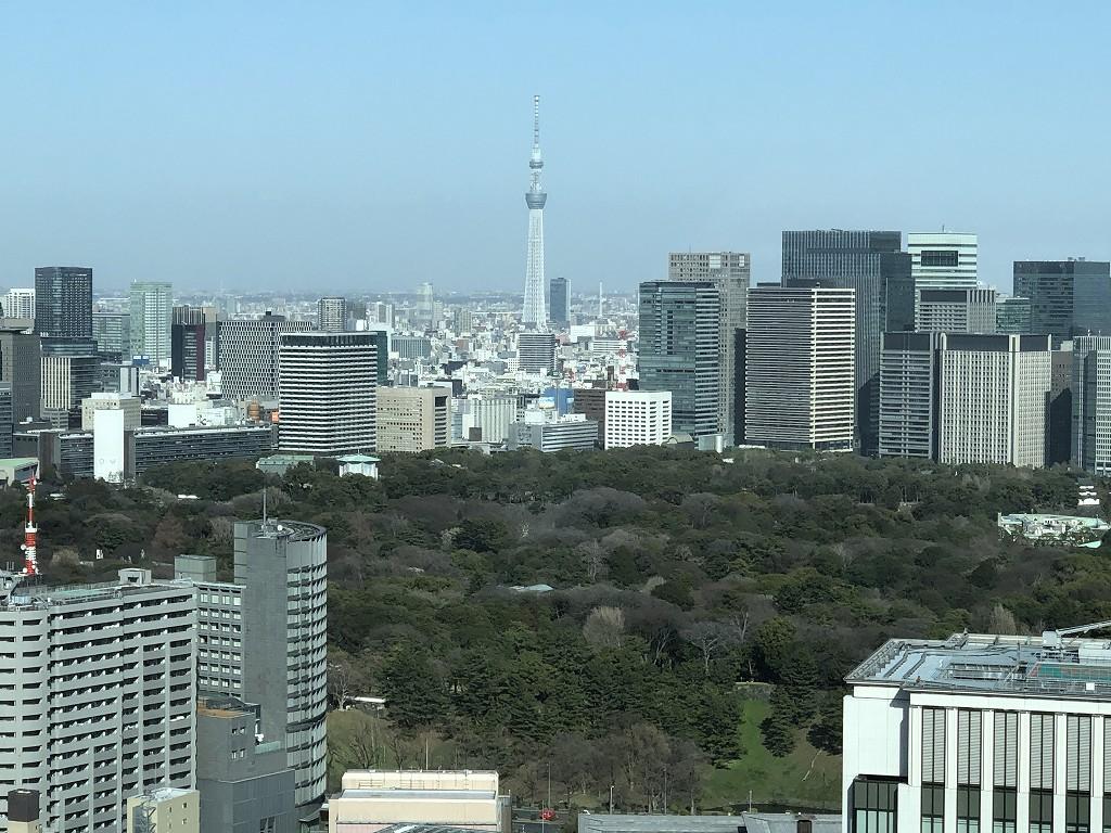 ザ・プリンスギャラリー東京紀尾井町「グランドデラックス プレミア キング」からの眺め2