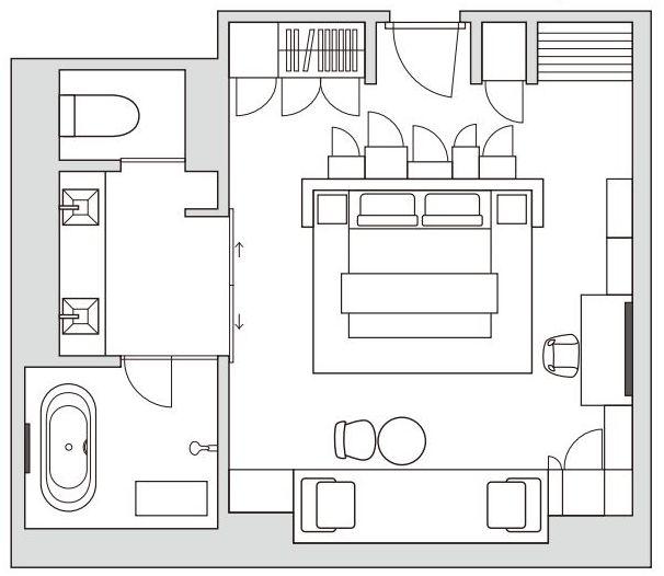ザ・プリンスギャラリー東京紀尾井町の「グランドデラックス プレミア キング」の間取り図