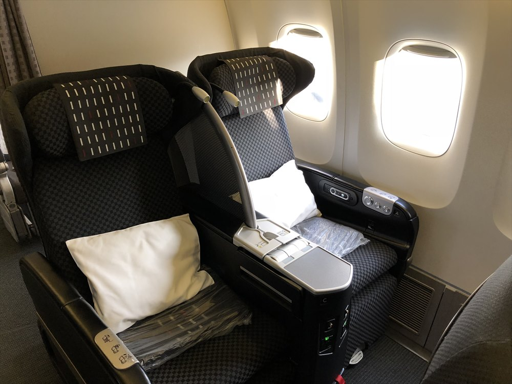JAL SKY RECLYNERの座席2