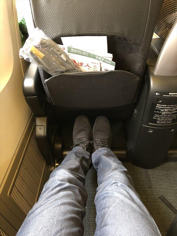 JAL SKY RECLYNERの座席の幅