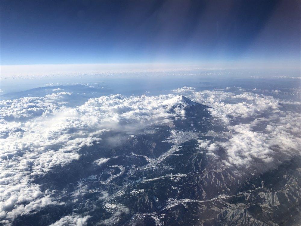 JAL91便からの富士山