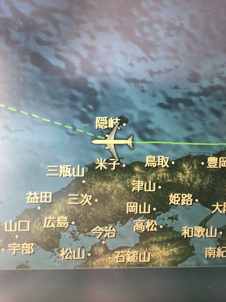JAL91便から隠岐の島