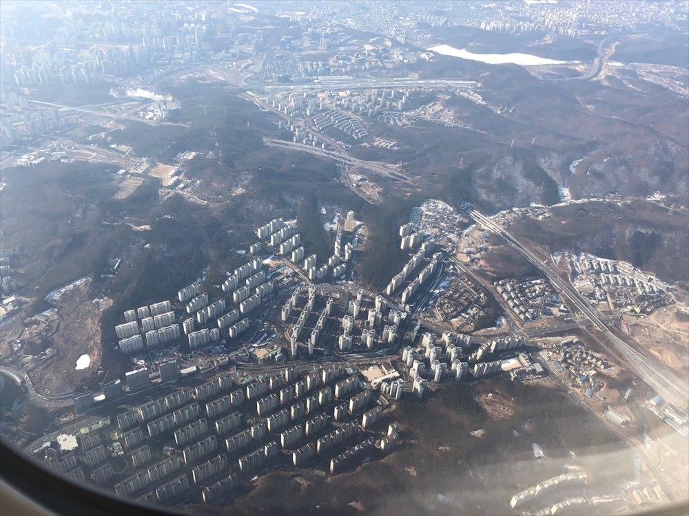 韓国の画一化されたマンション群1