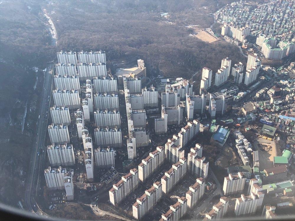 韓国の画一化されたマンション群2